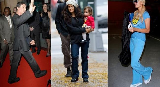 Sylvester Stallone, Salma Hayek y Paris Hilton