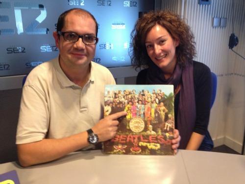 Nacho Ares y Mónica Ordoñez trás la entrevista sobre 'The Beatles'