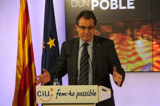 El candidat de CiU, Artur Mas