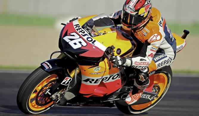 Dani Pedrosa rodando en el Circuito Ricardo Tormo