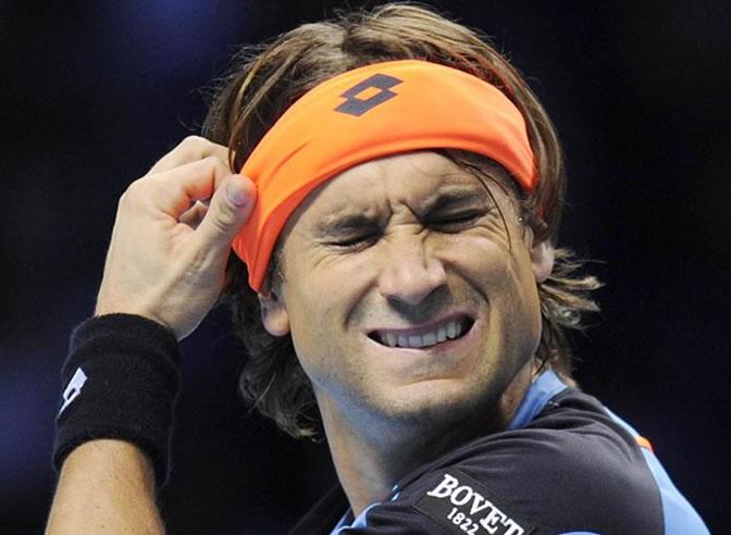 Ferrer se lamenta por un fallo ante Tipsarevic