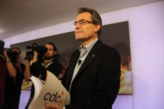 Artur Mas, aquest dissabte en roda de premsa