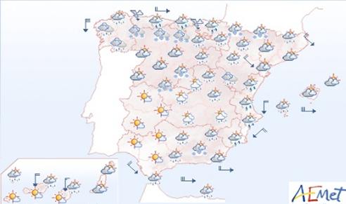 Pronóstico del tiempo para el domingo 11 de noviembre.