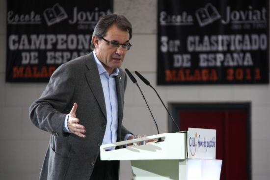 Artur Mas, durant un acte social de CiU a Manresa