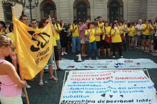 Imatge de la manifestació del món de l'ensenyament del mes de setembre