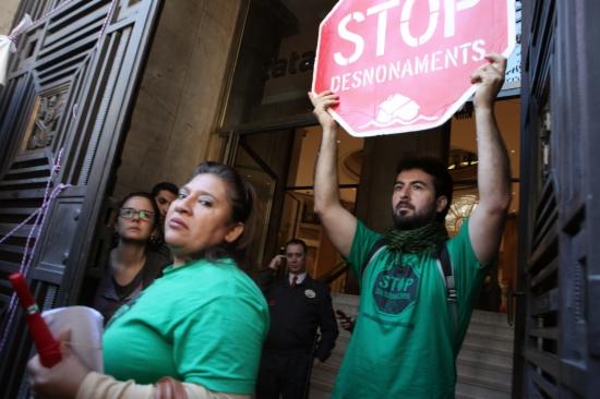Imatge d'una protesta de la Plataforma d'Afectats per la Hipoteca