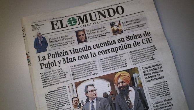 La polémica portada del diario El Mundo