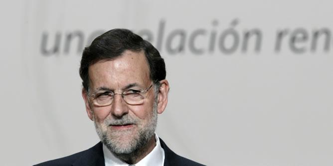 El presidente Mariano Rajoy durante la clausura de la cumbre iberoamericana celebrada en Cádiz.
