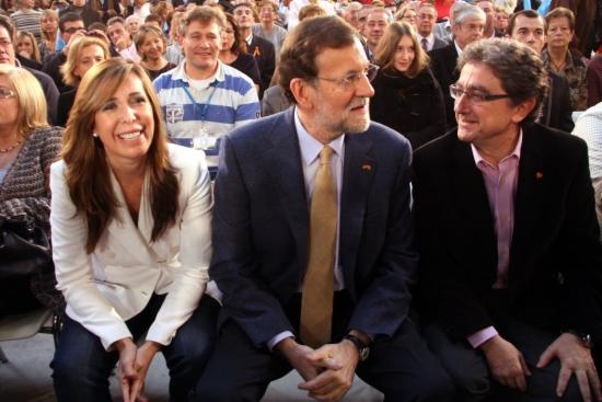 Mariano Rajoy amb Alícia Sánchez Camacho i Enric Millo