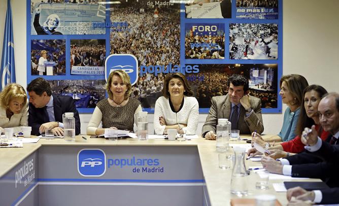 La presidenta del PP de Madrid, Esperanza Aguirre,durante el Comité de Dirección Regional del partido