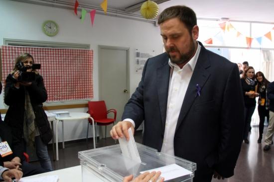 Vota el candidat d'ERC, Oriol Junqueras