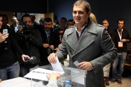 Vota el candidat de Ciutadans, Albert Rivera