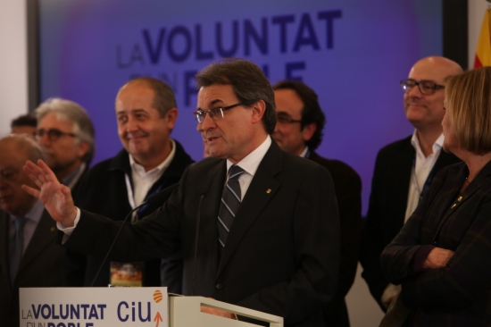 Artur Mas a la nit electoral