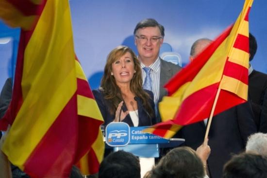 Alícia Sánchez Camacho a la nit electoral