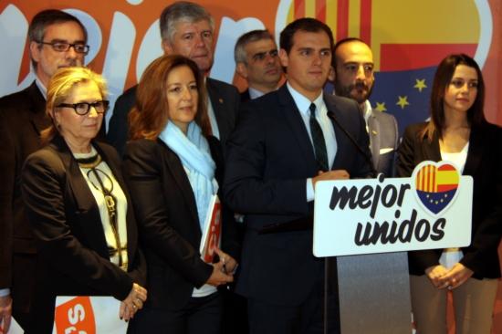 Albert Rivera, amb els diputats electes de Ciutadans