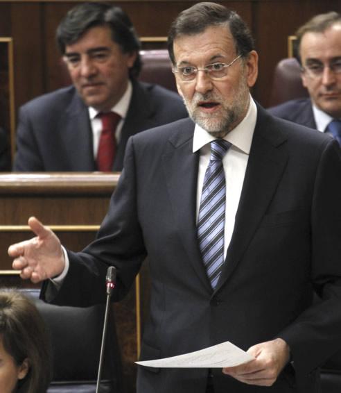 El presidente del Gobierno, Mariano Rajoy, durante su intervención en la sesión de control al Ejecutivo celebrada este miércoles en el Congreso de los Diputados.