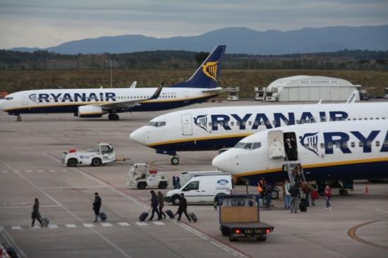 Avions de la companyia irlandesa de baix cost Ryanair -ACN-