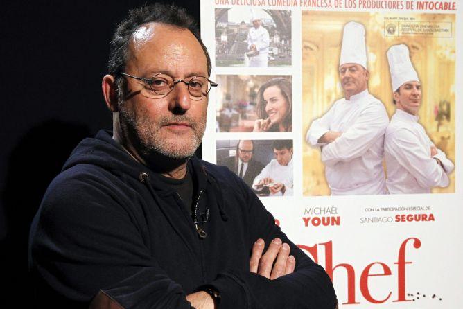 """El actor francés Jean Reno, durante una entrevista concedida en Madrid con motivo del estreno de la película """"El chef, la receta de la felicidad"""", del cineasta Daniel Cohen."""