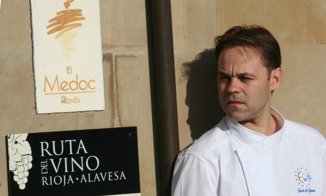 El cocinero vizcaíno Juan Antonio Gómez, chef de El Medoc Alavés (Laguardia, Álava), lleva ocho años afincado en Rioja Alavesa.