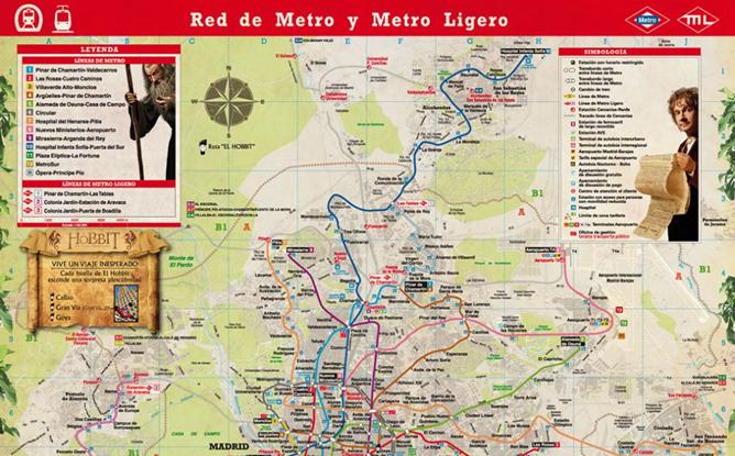 Imagen del mapa de metro de madrid