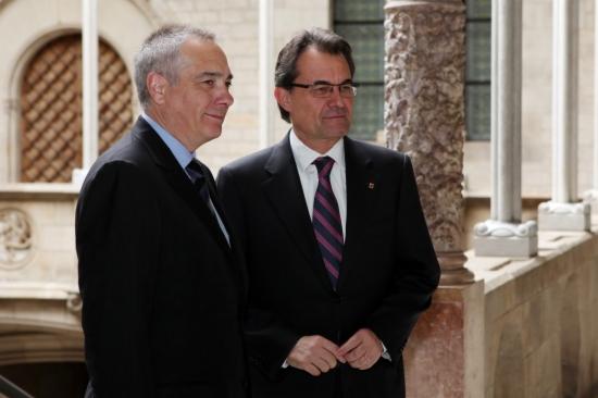 Imagen de archivo de la reunión entre Artur Mas y Pere Navarro del 27 de abril de 2012