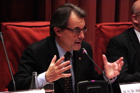 Artur Mas en compareixença a la diputació permanent -ACN-