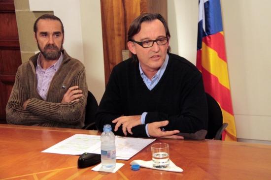 L'alcalde de Vic, Josep Maria Vila d'Abadal, durant la roda de premsa per explicar la seva renúncia com a militant d'Unió.