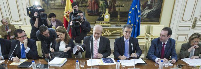 El ministro de Educación, José Ignacio Wert, al inicio de la reunión de la Conferencia General de Política Universitaria
