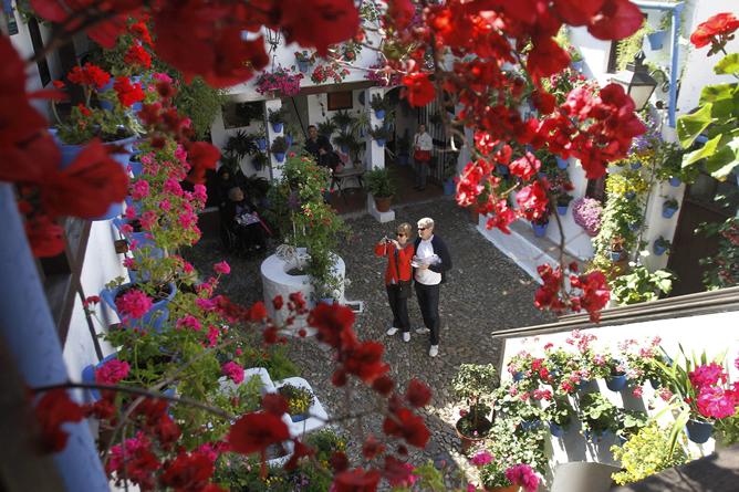 Fotografía de archivo de un patio cordobés en el Barrio de San Basilio. Los patios de Córdoba se han convertido en el duodécimo valor español que entra en la lista del patrimonio cultural inmaterial de la humanidad de la Unesco