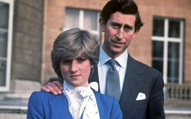 Lady Di y Carlos el día que anunciaron su compromiso matrimonial el 24 de febrero de 1981
