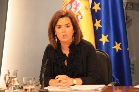Sáenz de Santamaría, durant la roda de premsa posterior al Consell de Ministres -ACN-