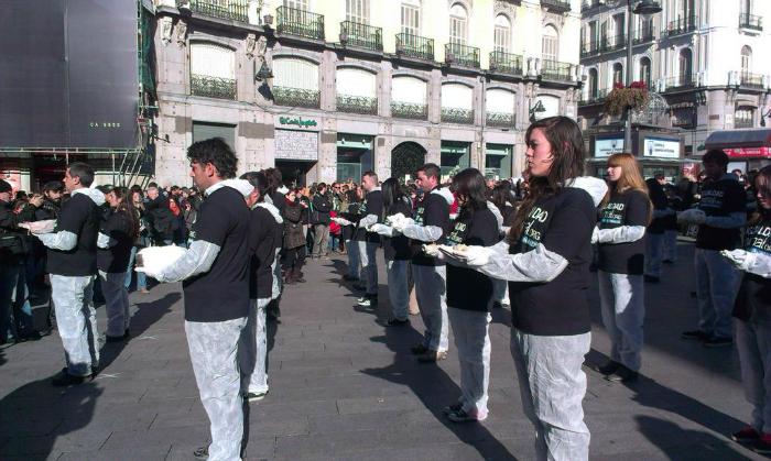 Activistas de Igualdad Animal en la Puerta del Sol