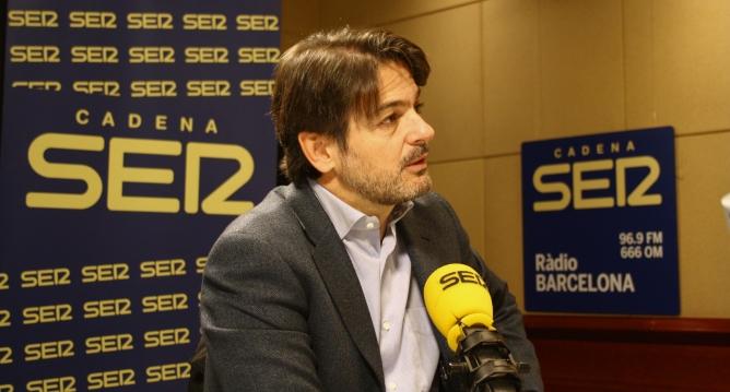 Oriol Pujol als estudis de Ràdio Barcelona