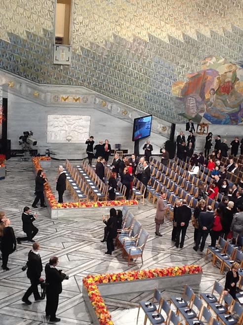 Llegan los primeros invitados a la ceremonia de entrega del Nobel de la Paz