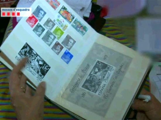Mostra dels segells intervinguts i que no tenien cap valor