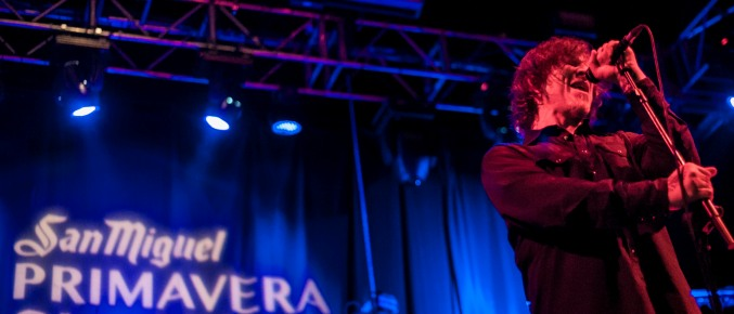 El cantante Mark Lanegan durante su actuación en el Primavera Club 2012