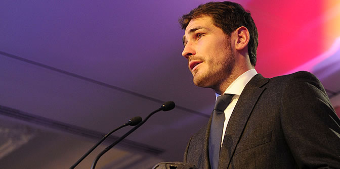 Casillas recoge su Premio AS