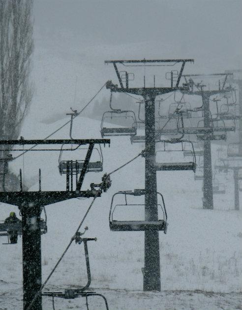 Nieva en la estación de esquí de Cerler, en Huesca