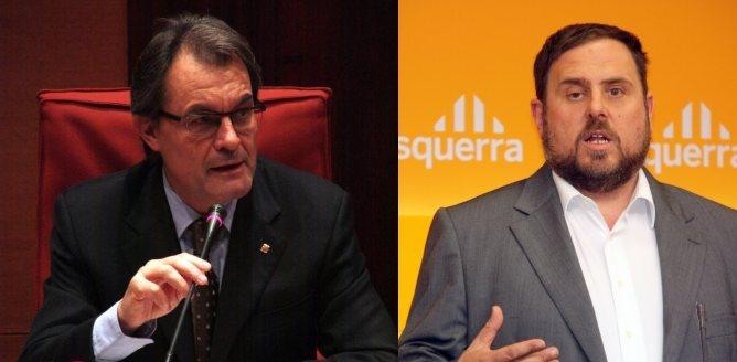 Artur Mas i Oriol Junqueras