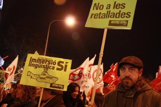 La marxa també fa una defensa de la immersió lingüística i de l'ensenyament públic -ACN-