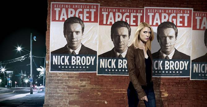 Uno de los carteles promocionales de la segunda temporada de 'Homeland'