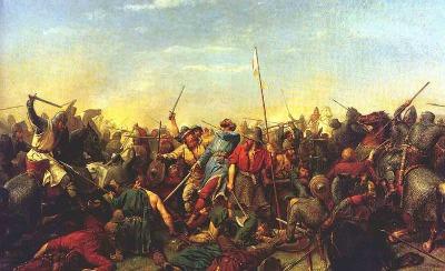 'Muerte de Harald por una flecha en Stamford Bridge'