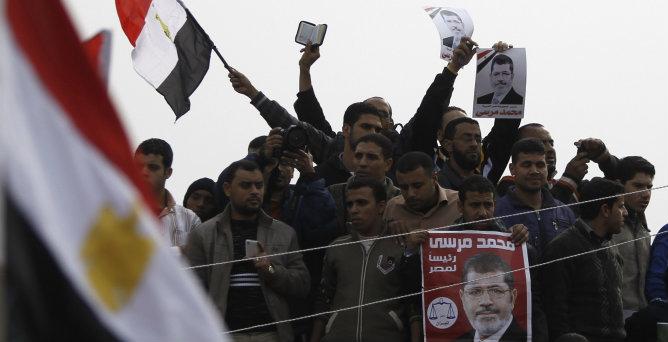 Diferentes manifestaciones inundas las calles de Egipto en la jornada previas a la consulta constitucional.