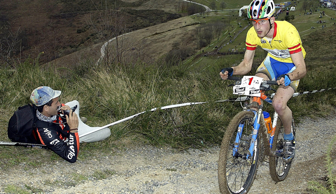 El corredor vasco Iñaki Lejarreta se proclamó vencedor de la XII edición del Open Monte Naranco, segunda prueba del Campeonato de España de bicicleta de montaña, Lejarreta con su victoria de hoy es el lider de la clasificación