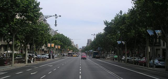 Una imatge de l'Avinguda Diagonal de Barcelona