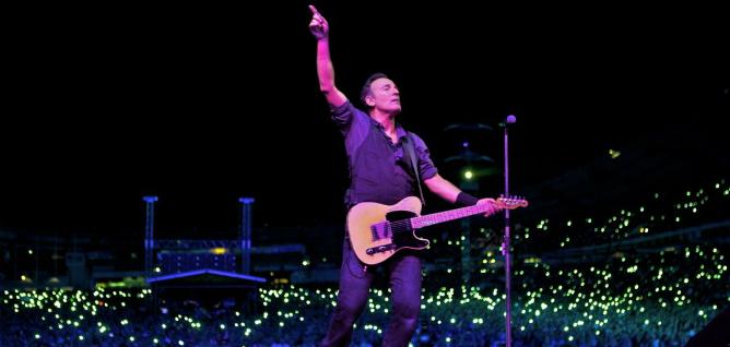 Bruce Springsteen en uno de sus conciertos