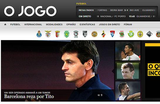 "FOTOGALERIA: Portugal | 'O Jogo': ""Barcelona reza por Tito"""