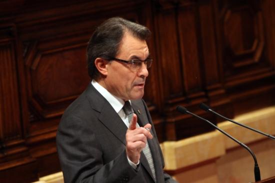 Artur Mas en el seu discurs d'investidura
