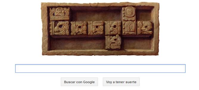Google dedica su doodle al fin del décimo tercer Baktún de los mayas