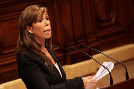 Una imagen de archivo de Alícia Sánchez Camacho, en la tribuna de oradores del Parlament de Catalunya